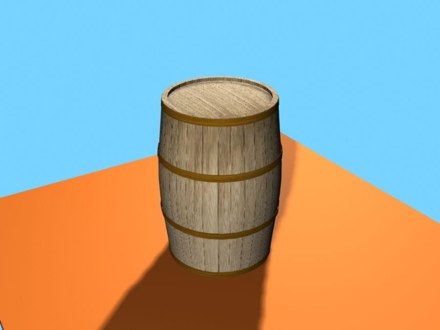 Barrel Wood royalty-free 3d model - Preview no. 4