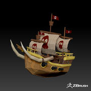 Low Poly Pirate Ship 3d model