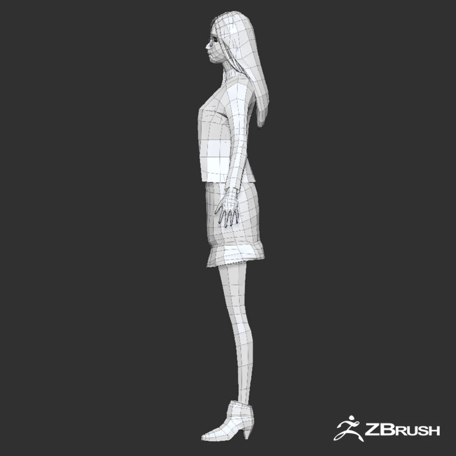 Anime female character royalty-free 3d model - Preview no. 18
