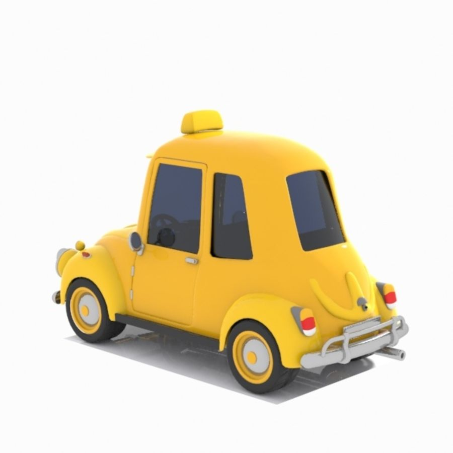 Toon Taxi Car royalty-free 3d model - Preview no. 6