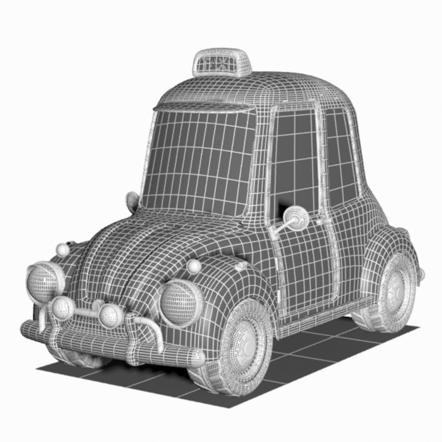 Toon Taxi Car royalty-free 3d model - Preview no. 12