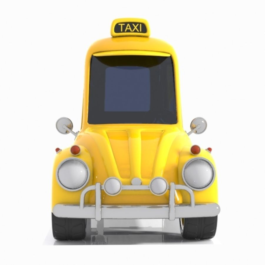 Toon Taxi Car royalty-free 3d model - Preview no. 10