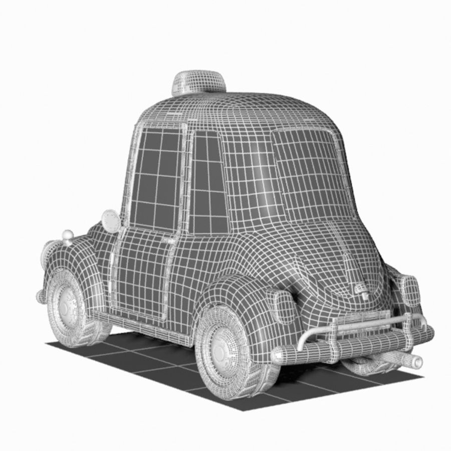 Toon Taxi Car royalty-free 3d model - Preview no. 14