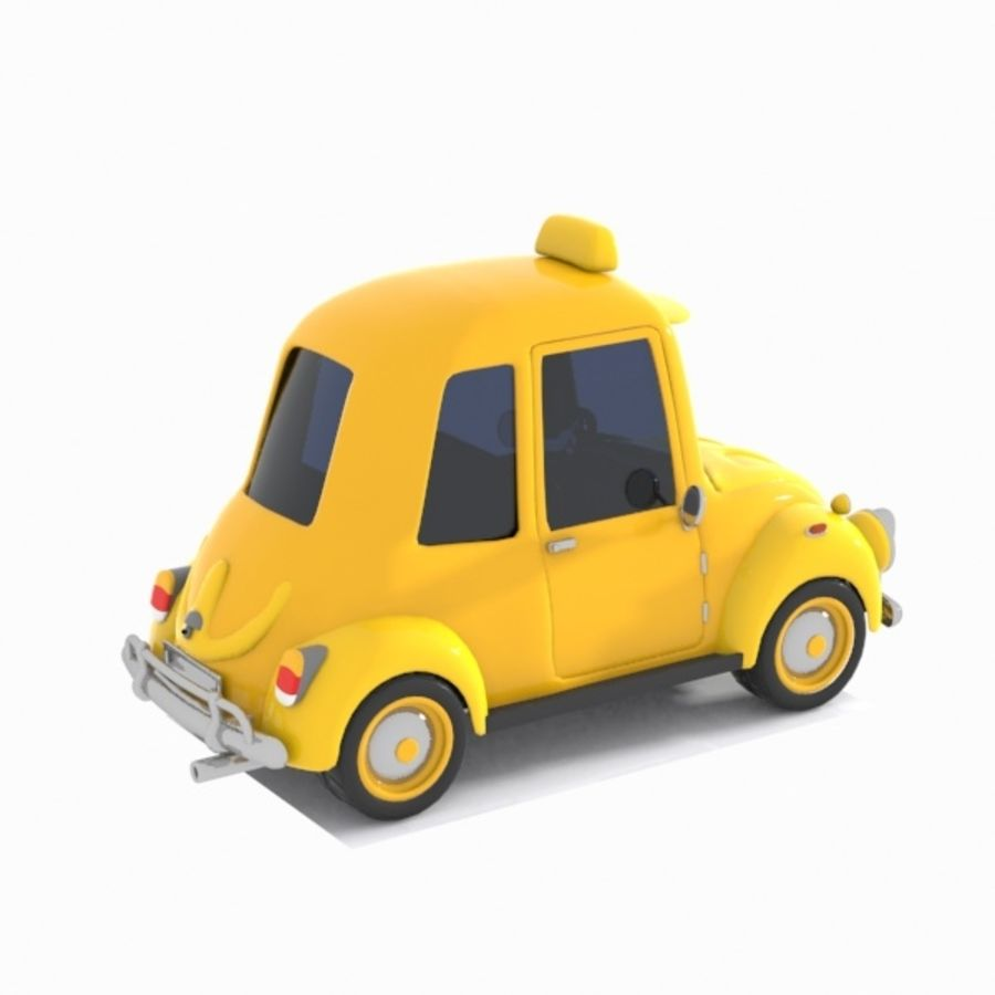 Toon Taxi Car royalty-free 3d model - Preview no. 7