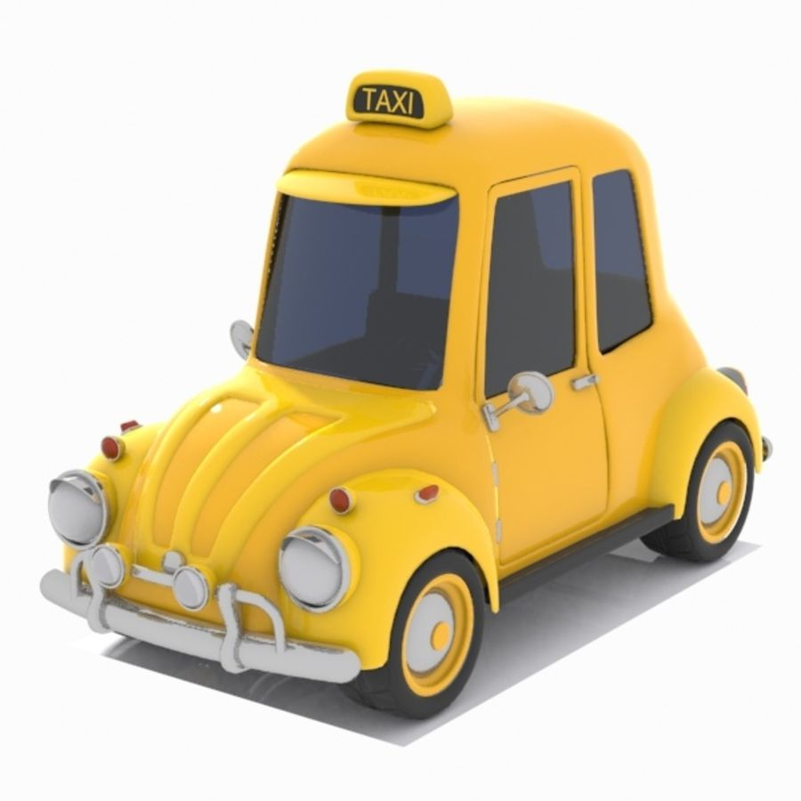 Toon Taxi Car royalty-free 3d model - Preview no. 1