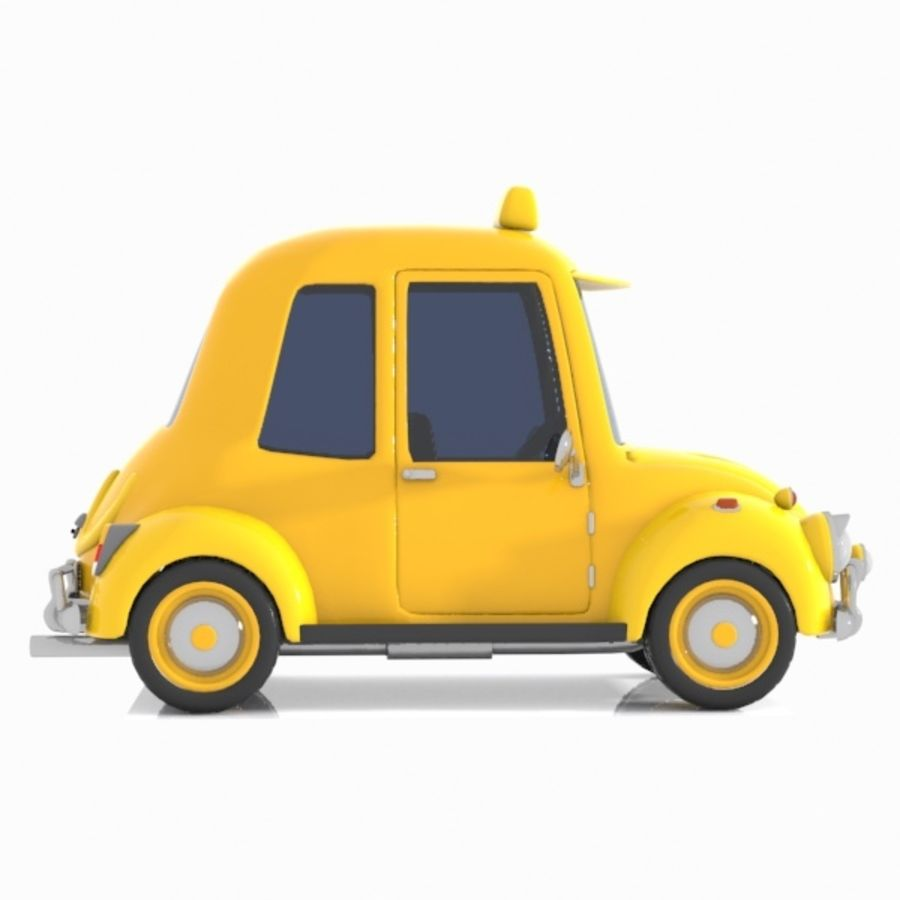 Toon Taxi Car royalty-free 3d model - Preview no. 8