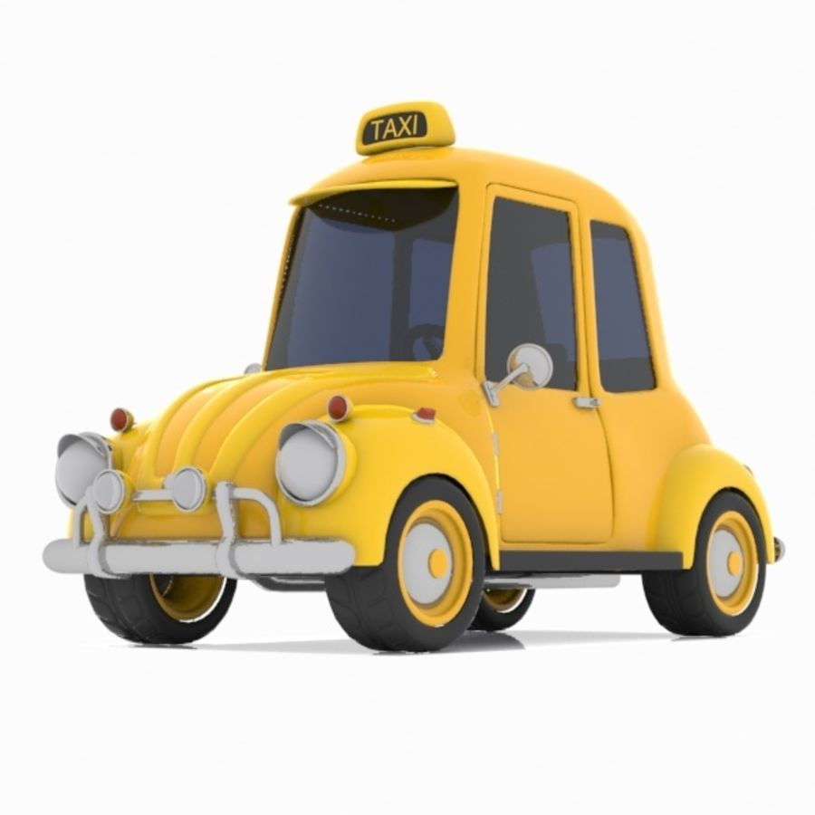 Toon Taxi Car royalty-free 3d model - Preview no. 4