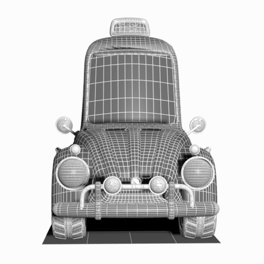 Toon Taxi Car royalty-free 3d model - Preview no. 11