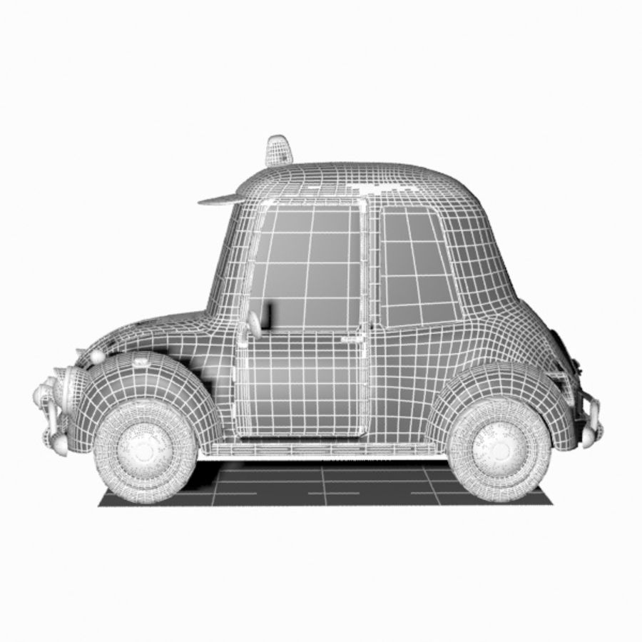 Toon Taxi Car royalty-free 3d model - Preview no. 13