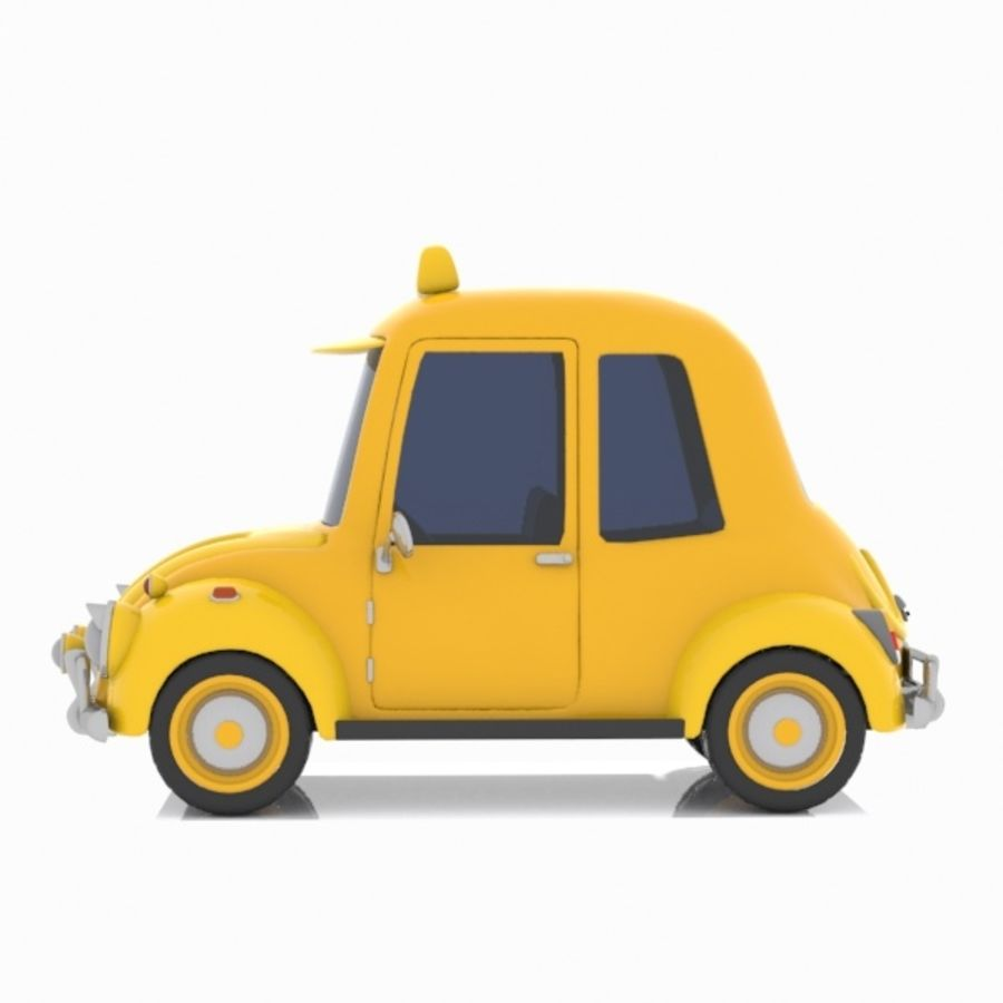 Toon Taxi Car royalty-free 3d model - Preview no. 5