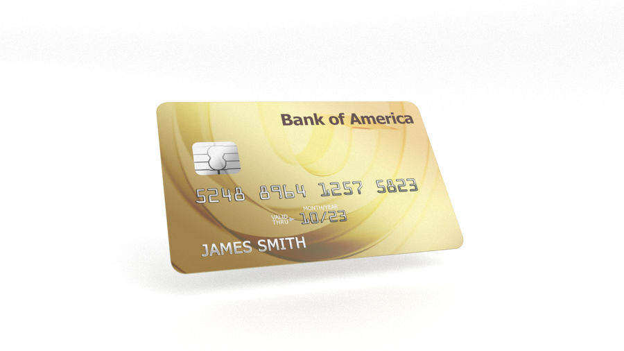 Credit Card royalty-free 3d model - Preview no. 6