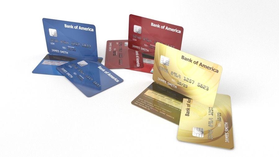 Cartão de crédito royalty-free 3d model - Preview no. 4