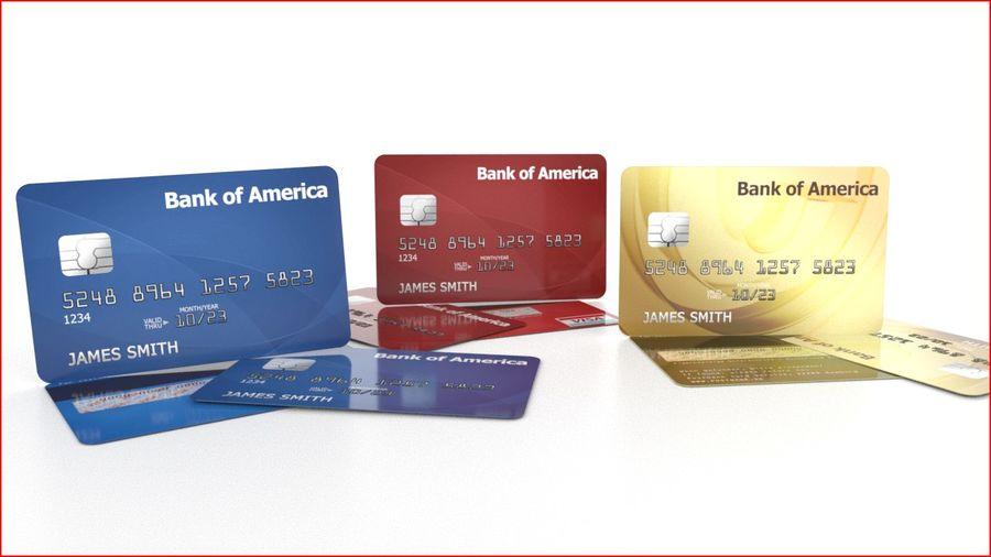 Cartão de crédito royalty-free 3d model - Preview no. 2