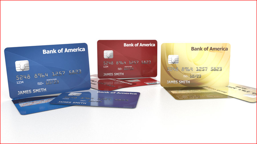 Credit Card royalty-free 3d model - Preview no. 2