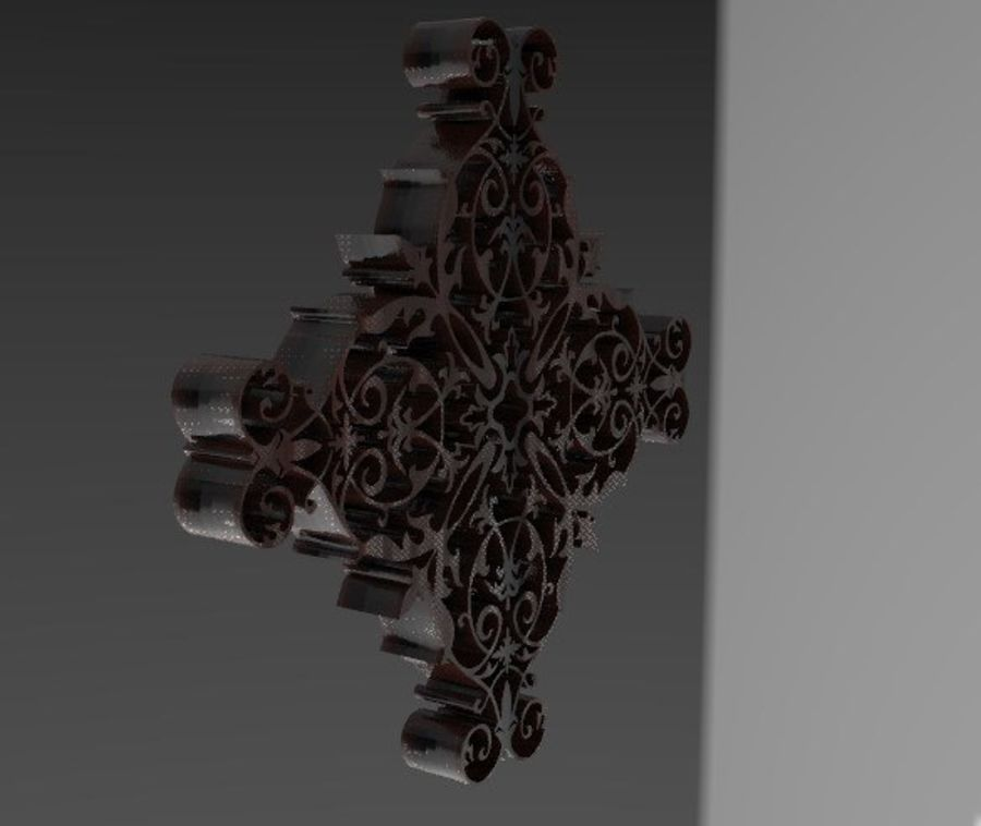 ARCHITECTURAL DECOR(1) royalty-free 3d model - Preview no. 2