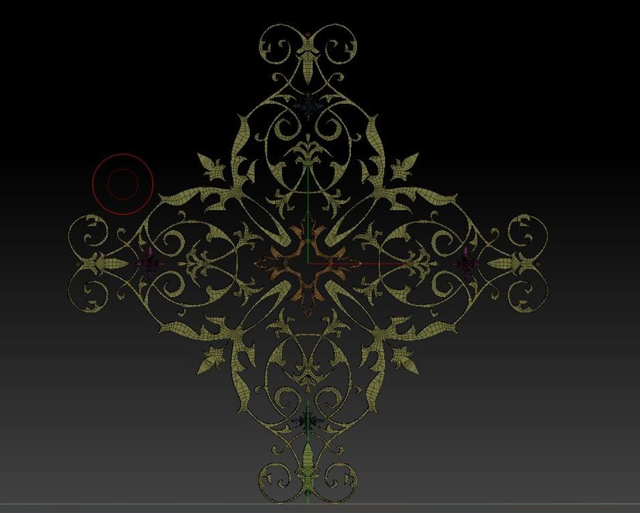 ARCHITECTURAL DECOR(1) royalty-free 3d model - Preview no. 6