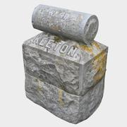 Надгробная плита - Китон 3d model