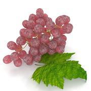 Pink Grapes realistic 3d model