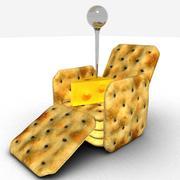 Kaas en crackers 3d model