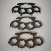 Латунные костяшки 3 шт 3d model
