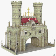 Fantasy Medieval Entrance 3d model