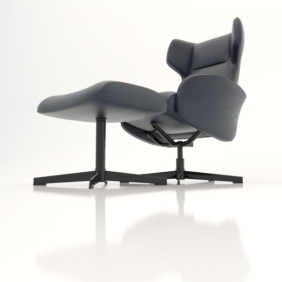 现代办公椅16 royalty-free 3d model - Preview no. 3