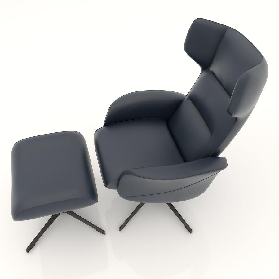 现代办公椅16 royalty-free 3d model - Preview no. 4
