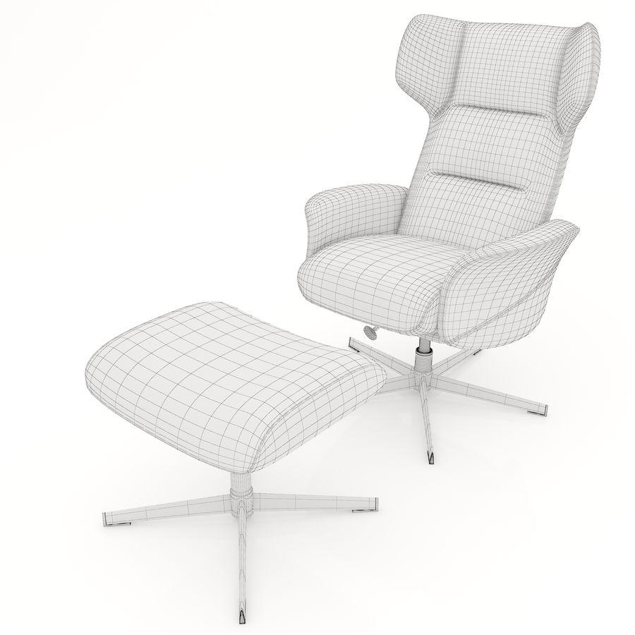 现代办公椅16 royalty-free 3d model - Preview no. 8