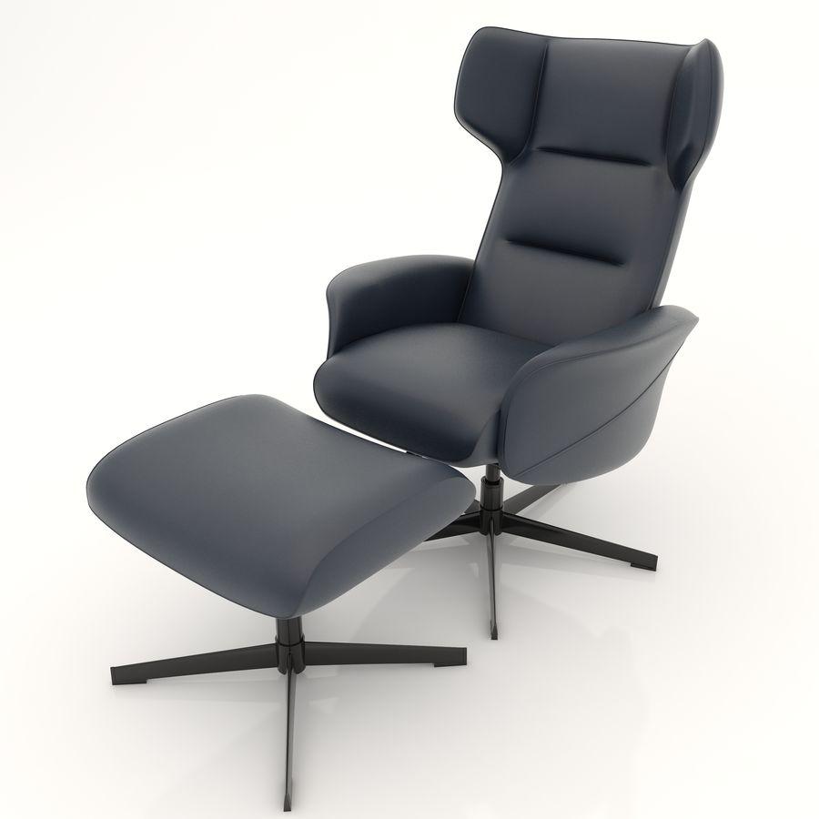 现代办公椅16 royalty-free 3d model - Preview no. 2