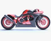未来派摩托车 3d model