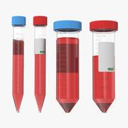 Lab Test Tubes Modelli 3D 3d model
