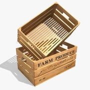 Trälåda låda 3d model