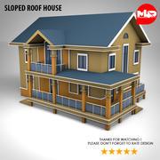 Casa sul tetto inclinato 3d model