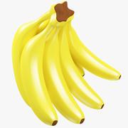 Manojo de plátanos de dibujos animados modelo 3d