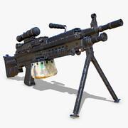 M249 Machinegeweer 3d model