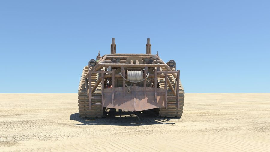 BTR MONGO TANK royalty-free 3d model - Preview no. 4