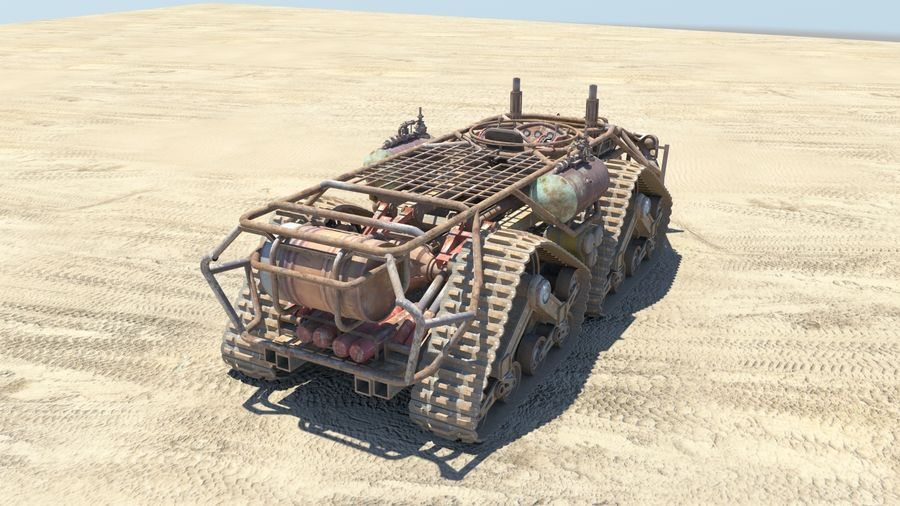 BTR MONGO TANK royalty-free 3d model - Preview no. 3