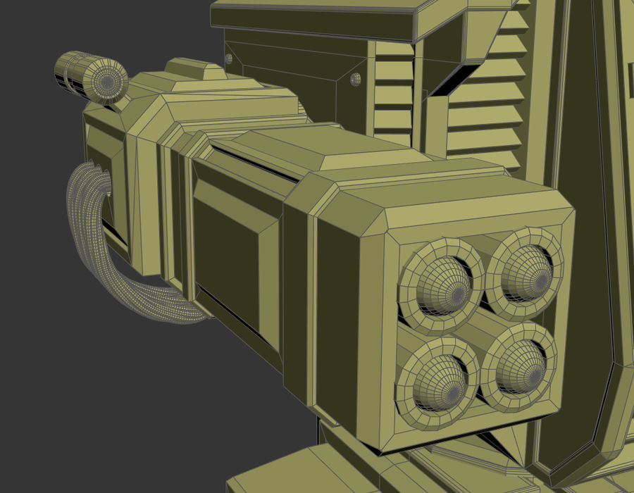 Battle_Mech royalty-free 3d model - Preview no. 12