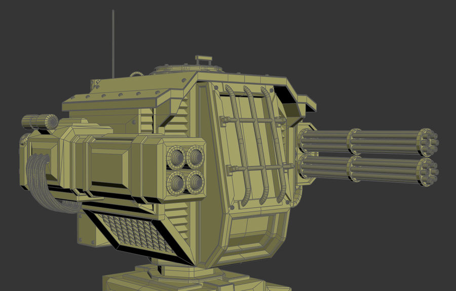 Battle_Mech royalty-free 3d model - Preview no. 2