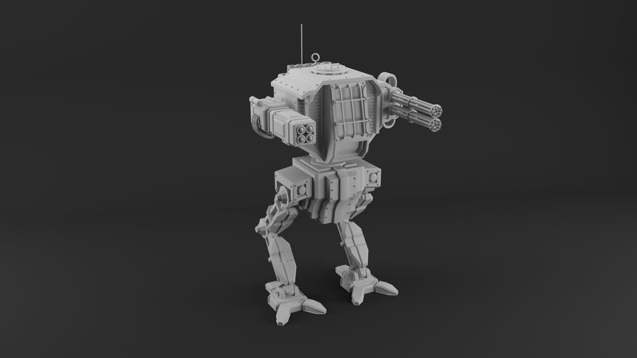 Battle_Mech royalty-free 3d model - Preview no. 1