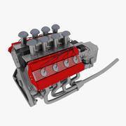 V8-Motor 3d model