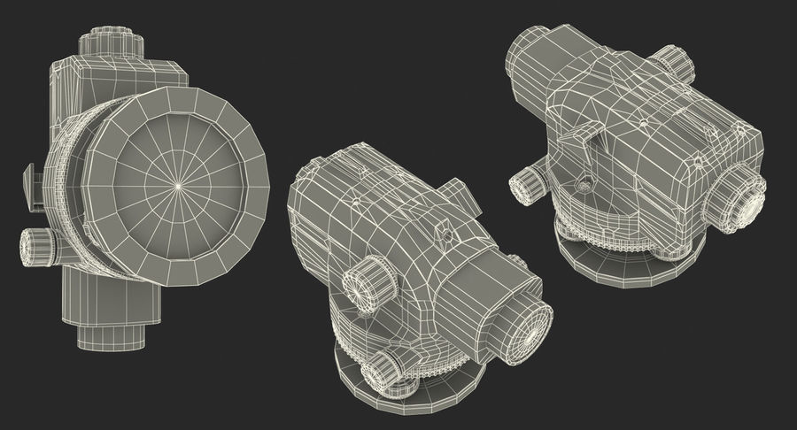 測量機の自動レベル3Dモデル royalty-free 3d model - Preview no. 14