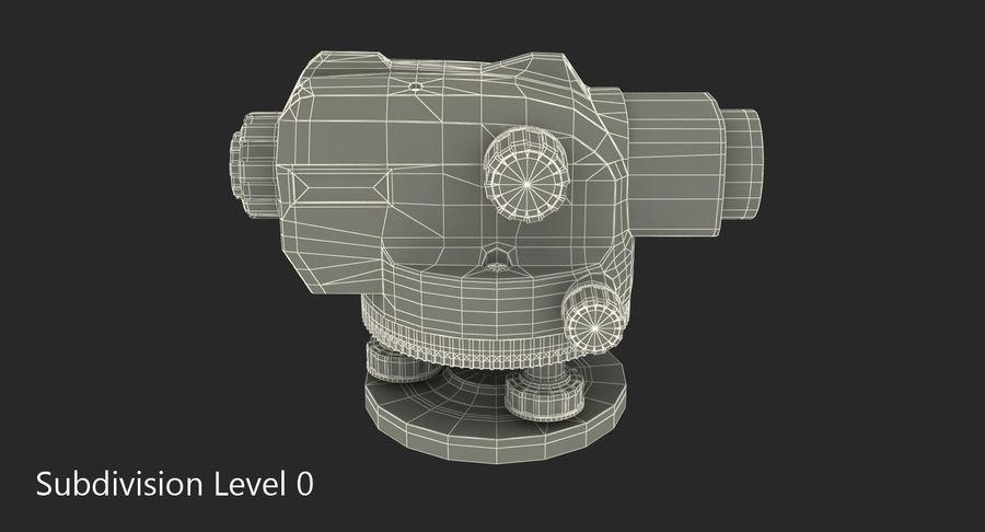 測量機の自動レベル3Dモデル royalty-free 3d model - Preview no. 7