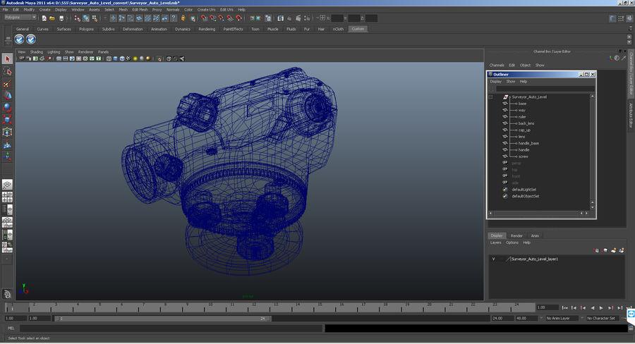 測量機の自動レベル3Dモデル royalty-free 3d model - Preview no. 11