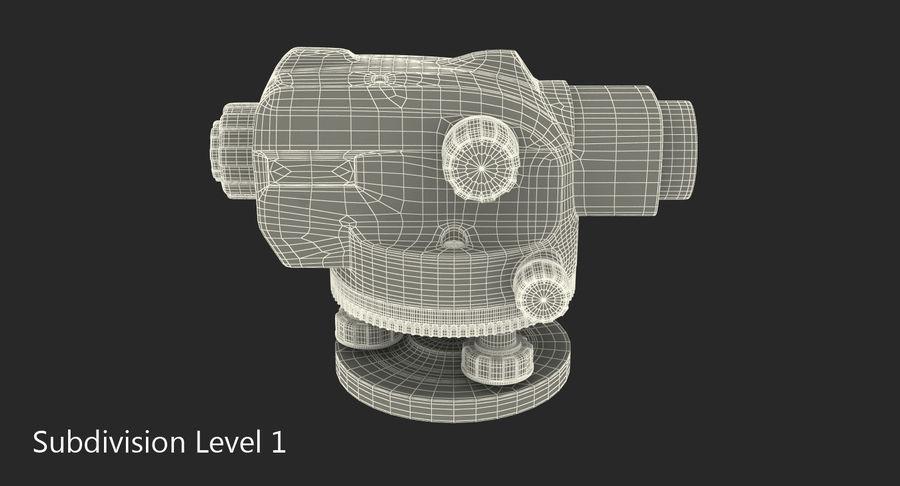 測量機の自動レベル3Dモデル royalty-free 3d model - Preview no. 8