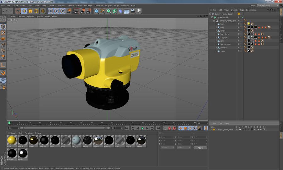 測量機の自動レベル3Dモデル royalty-free 3d model - Preview no. 12