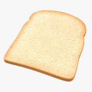 Toast Bread Slice 3D 모델 3d model