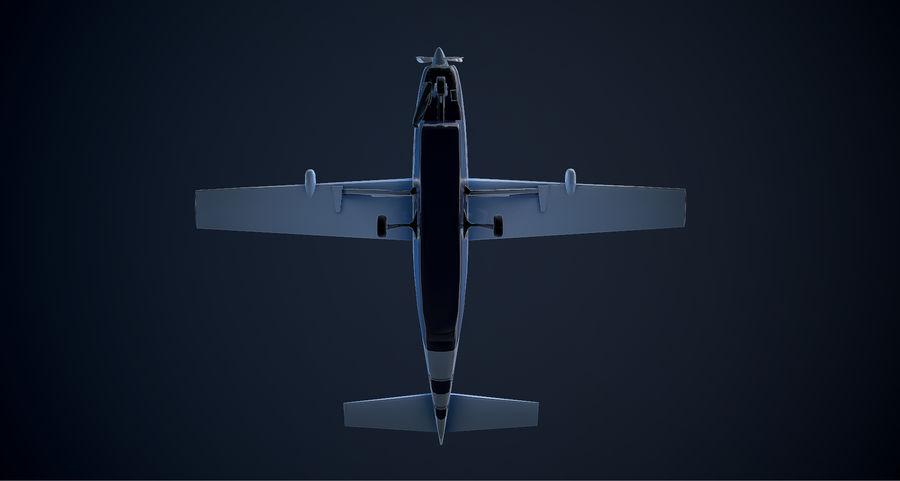 Przyczepa kempingowa Cessna 208 royalty-free 3d model - Preview no. 8