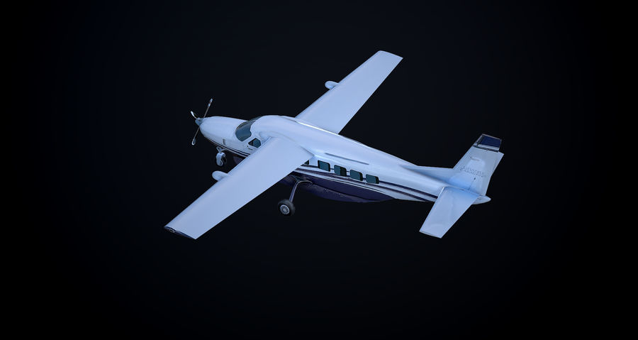Przyczepa kempingowa Cessna 208 royalty-free 3d model - Preview no. 7