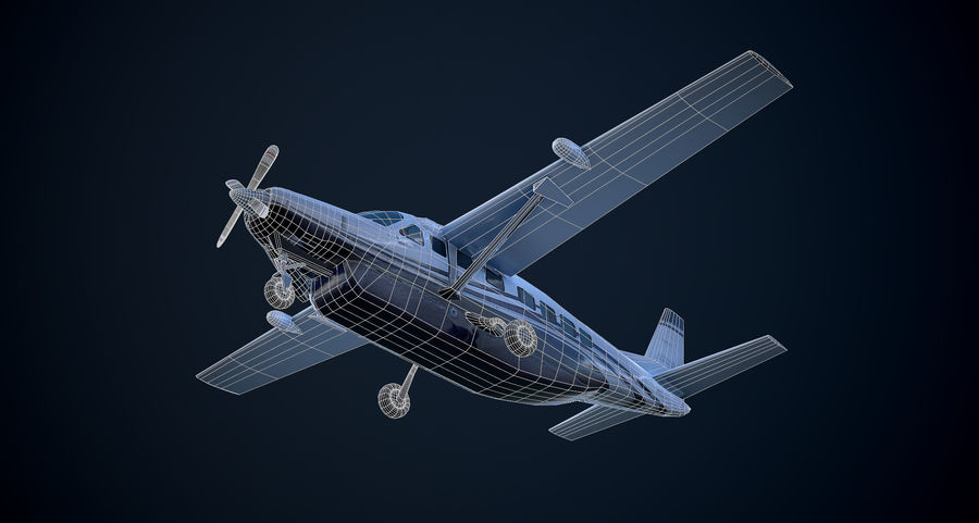 Przyczepa kempingowa Cessna 208 royalty-free 3d model - Preview no. 11